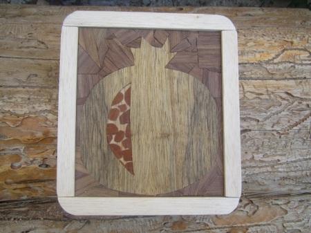 פסיפס עץ תלת מימדי. 4 סוגי עץ